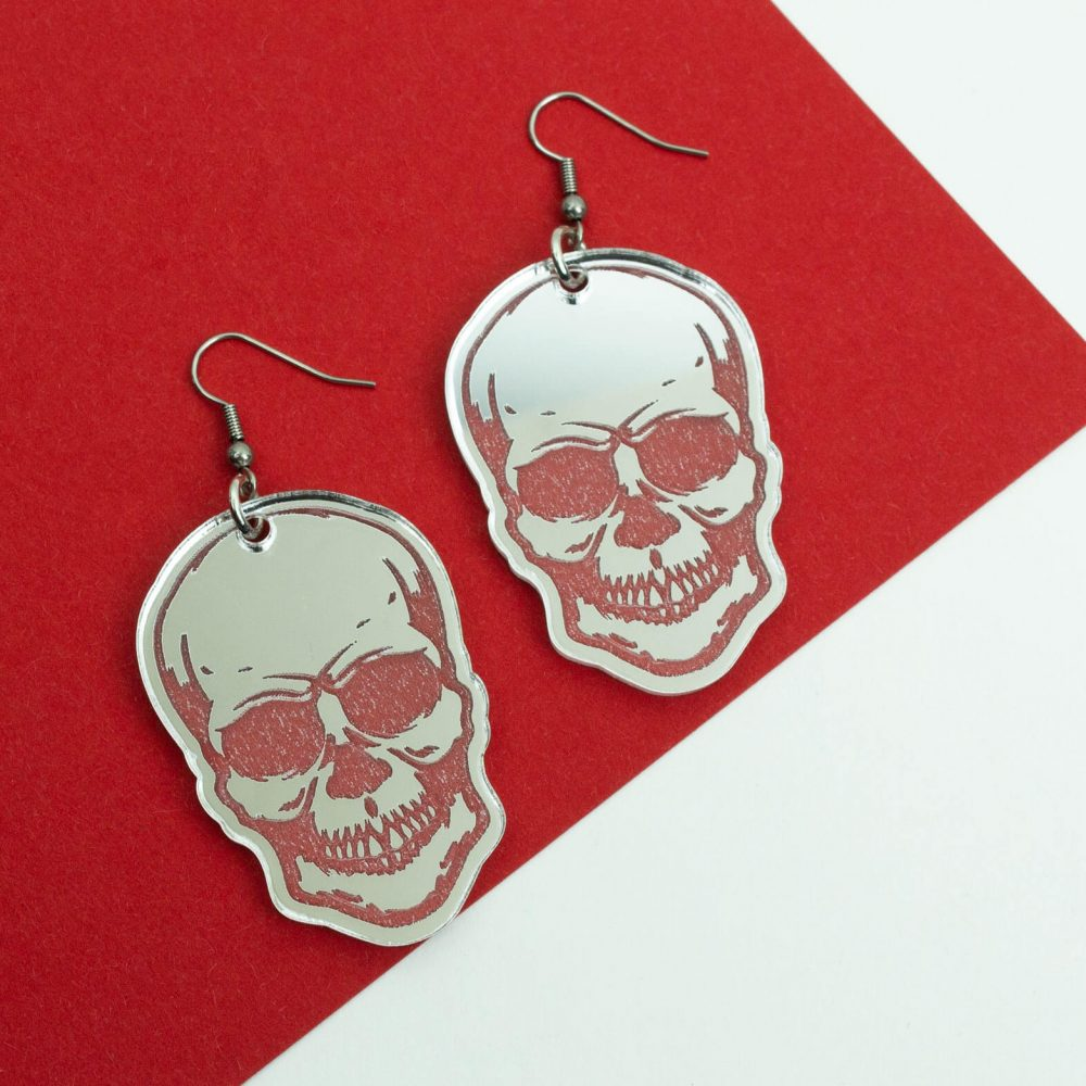Gothic skull earring